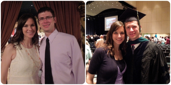 On Friday we went to Josh's graduation banquet. It was so nice to enjoy an evening of celebration together while my parents watched Caleb. Then, on Saturday, Josh officially graduated and is now a practicing M.D. :)